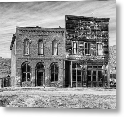 Dechambeau Hotel And Ioof Hall Bodie Ca Metal Print by Troy Montemayor