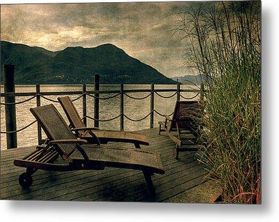 Deck Chairs Metal Print by Joana Kruse