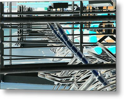 Metal Print featuring the photograph Deck Chairs by John Schneider