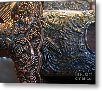 Decorated Parts  Of A Sword Metal Print by Yali Shi