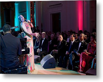 Dee Dee Bridgewater Performs Metal Print by Everett