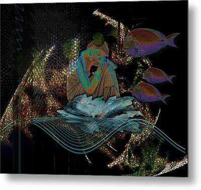 Deep Contemplation - Innere Einkehr Metal Print by Mimulux patricia no No