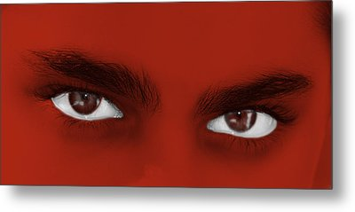 Deep Eyes Metal Print by Karin De oliveira