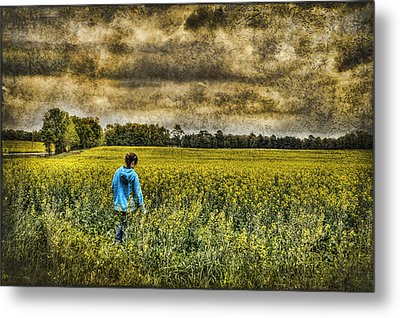 Deep In Thought Metal Print by Kathy Clark