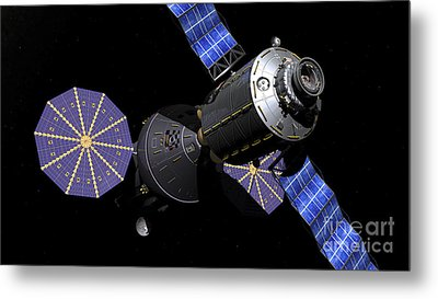 Deep Space Vehicle And Extended Stay Metal Print by Walter Myers