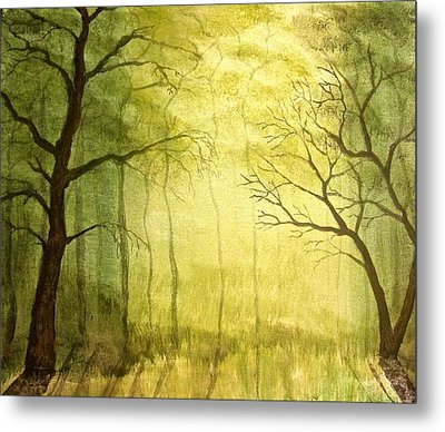 Deep Woods Metal Print by Heather Matthews