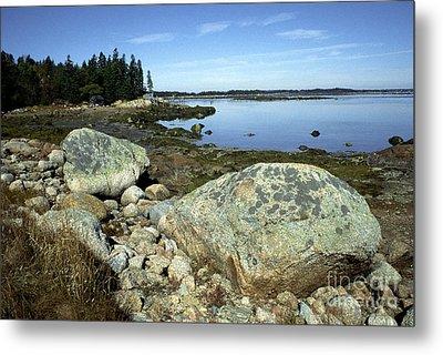 Deer Isle Granite Shoreline Metal Print by Thomas R Fletcher