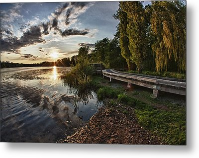 Metal Print featuring the photograph Deer Lake Boardwalk by Scott Holmes