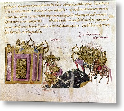 Defense Of Constantinople Metal Print by Granger
