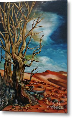Metal Print featuring the painting Defying Time by Paula L