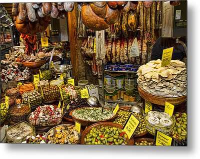 Deli In The Olivar Market In Palma Mallorca Spain Metal Print