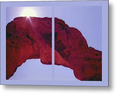 Delicate Arch Diptych Metal Print by Steve Ohlsen