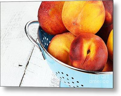 Delicious Peaches Metal Print by Stephanie Frey