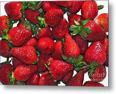 Deliciously Sweet Strawberries Metal Print by Kaye Menner