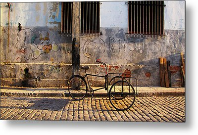 Delivery Bike Metal Print by Kimberley Bennett
