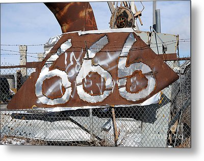 Demonic Humor At Industrial Site Haunted House Metal Print by Gary Whitton