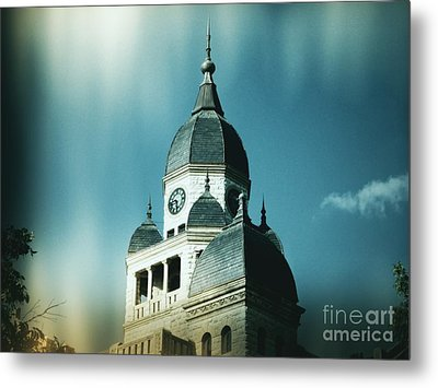Denton County Courthouse Metal Print by Angela Wright
