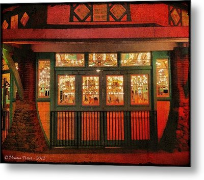 Dentzel Carousel As It Is Closing For The Night Metal Print