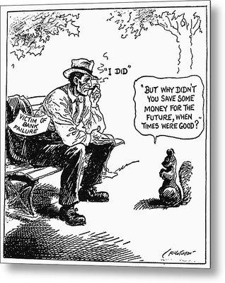 Depression Cartoon 1932 Metal Print by Granger
