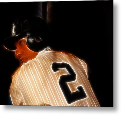 Derek Jeter II- New York Yankees - Baseball  Metal Print by Lee Dos Santos
