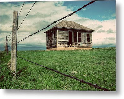 Derelict House On The Plains Metal Print
