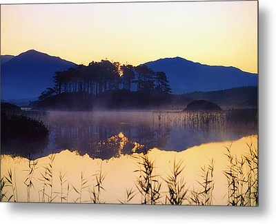 Derryclare Lough, Connemara, Co Galway Metal Print by The Irish Image Collection