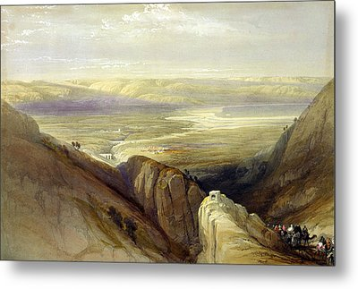 Descent Upon The Valley Of Jordan Metal Print by Everett