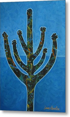 Metal Print featuring the painting Desert Blue by Lance Headlee