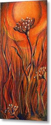 Desert Flower Metal Print by Nada Meeks