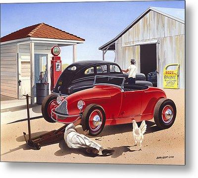 Desert Gas Station Metal Print by Bruce kaiser