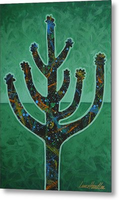 Metal Print featuring the painting Desert Green by Lance Headlee