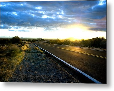 Desert Highway Metal Print by Anthony Citro