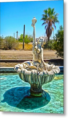 Desert Oasis - 02 Metal Print by Gregory Dyer