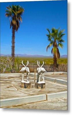 Desert Oasis - 03 Metal Print by Gregory Dyer