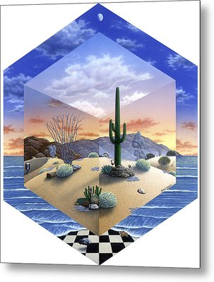 Desert On My Mind 2 Metal Print by Snake Jagger