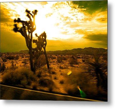 Desert Sunset Metal Print by Aurica Voss