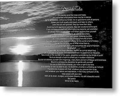 Metal Print featuring the photograph Desiderata by George Bostian