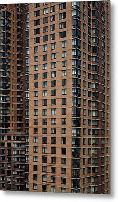 Detail Of High Rise-buildings, Manhattan, New York City, Usa Metal Print by Frederick Bass