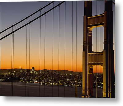 Detail Of The Golden Gate Bridge At Metal Print by Axiom Photographic