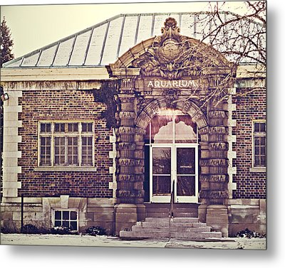 Detroit Belle Isle Aquarium Metal Print by Alanna Pfeffer
