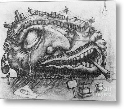 Detroit Hangover Metal Print by Mack Galixtar