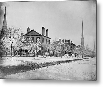 Detroit Michigan In 1870. South West Metal Print by Everett