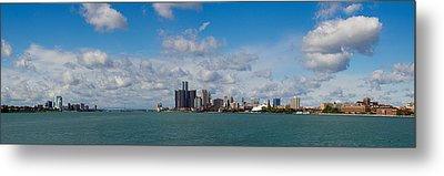 Detroit Michigan Skyline Metal Print by Twenty Two North Photography