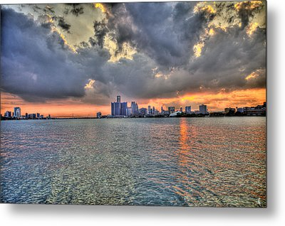 Detroit Sunset  Metal Print