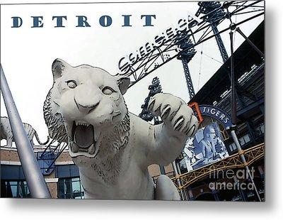 Detroit Tigers I Metal Print by Linda  Parker