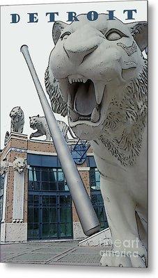 Detroit Tigers II Metal Print by Linda  Parker