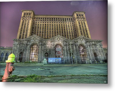 Detroit's Michigan Central Station - Michigan Central Depot Metal Print by Nicholas  Grunas