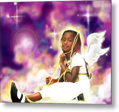 Diamond.angelic 2 Metal Print by Nada Meeks