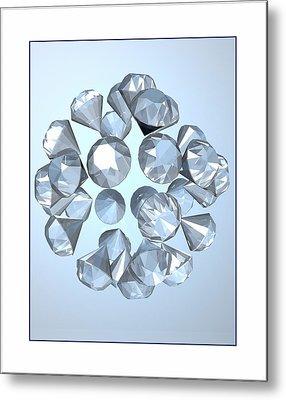 Metal Print featuring the digital art Diamonds... by Tim Fillingim