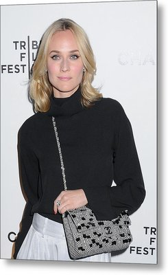 Diane Kruger Carrying A Chanel Bag Metal Print by Everett